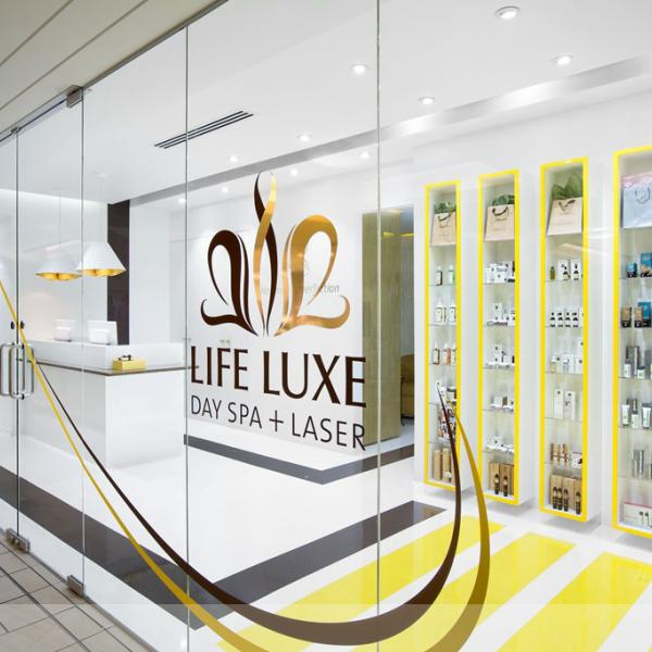 Life Luxe Spa Main Entry Retail Designed by Red Box ID