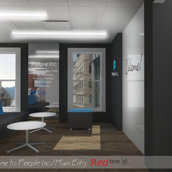 Peeple Office Main Entry Designed by Red Box ID